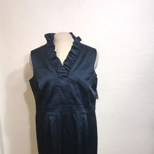 NWT TAYLOR Satin Sleeveless Dress